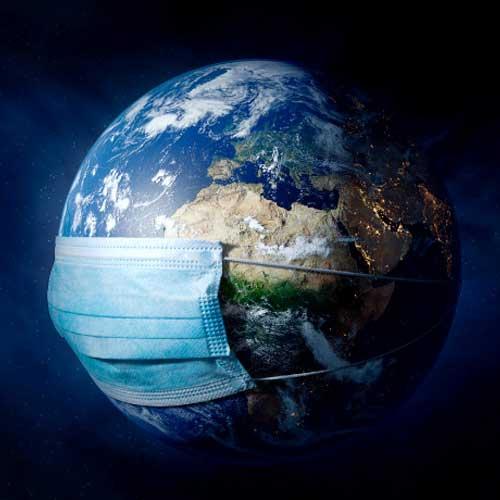 کره زمین با ماسک