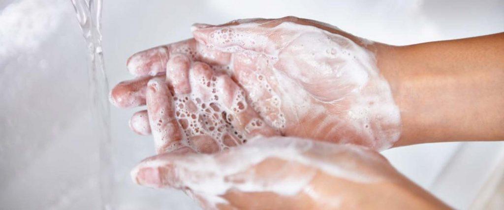 شستشوی دست با آب و صابون